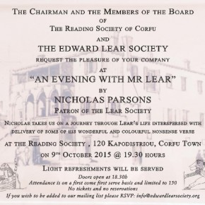 """An Evening with Mr Lear"""