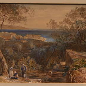 """View over San Remo from Villa Congreve"" Michael Montgomery"